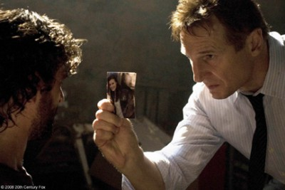 "Liam Neeson (right) as Bryan in ""Taken."""